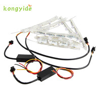 2017 New 2Pcs Car Headlight DRL Flashes Flowing Amber Shift Signal Lights Gift Drop Shipping June14