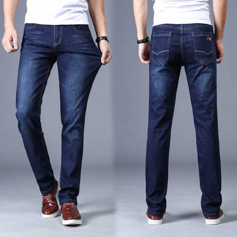 3bae2b71b7d55 ... Men'S Classic Jeans Brand Large Size Straight Pantalon Homme Jean Slim  Distressed Design Biker Pants Fit ...