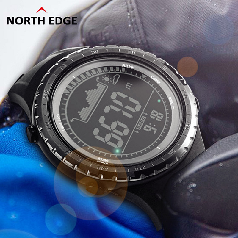 NORTH EDGE High-Quality Multi-Function Digital-Watch Outdoor Sport Men Watches Compass Climbing Hiking Led Watch Montre Homme цена