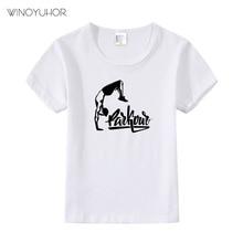 цена на Kids Parkour Born To Jump Print Cool T shirt Children Summer Short Sleeve Tops Cotton Boys Girls Casual T-shirt High Quality