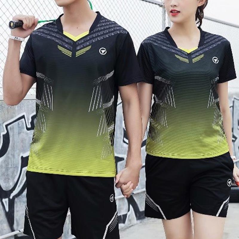Blank Badminton Jersey & Shorts Männer & Frauen Tennis Training Anzug Sportswear Federball Hemd Laufsport Badminton Shirt