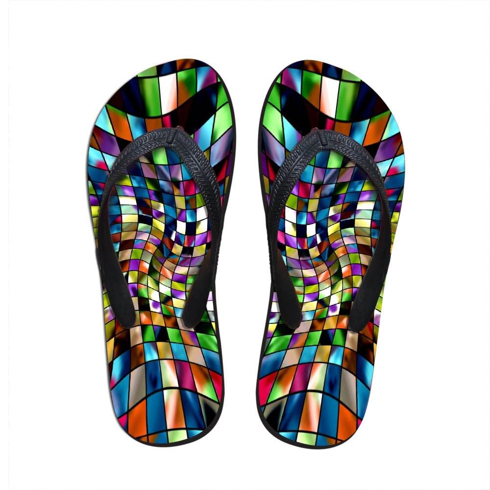 100% Wahr Noisydesigns Weibliche Flip-flop Mosaik Gedruckt Hause Sandalen Strand Gummi Hausschuhe Damen Wasser Schuhe Stil Designer Casual Faul Die Neueste Mode