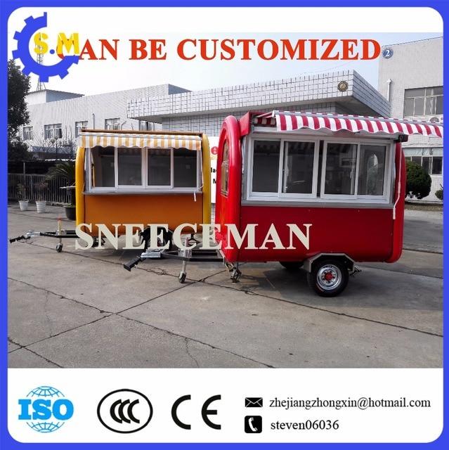 customized design mobile hot dog vending cart food cooking