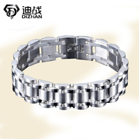 Men S Bracelet Gold Silver Plated 22cm Chunky Chain Bracelets Bangles 316L Stainless Steel Male Jewelry