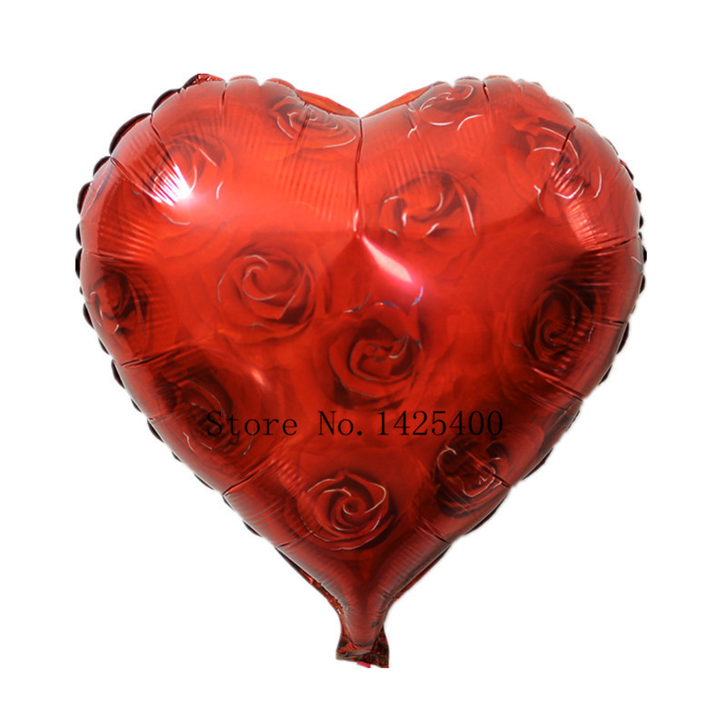 free shipping The new 18-inch heart-shaped roses decorated birthday balloons hol