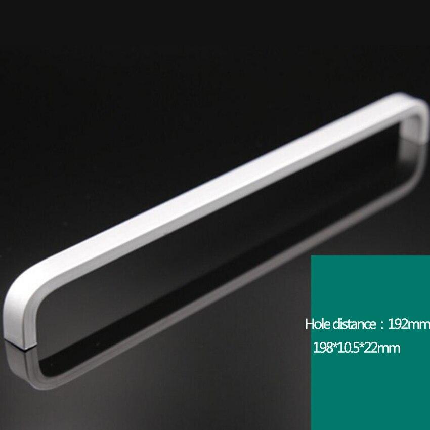 Дверные ручки простые выдвижные ящики для шкафа кухонные ручки и ручки для мебели ручки и ручки - Цвет: 192mm
