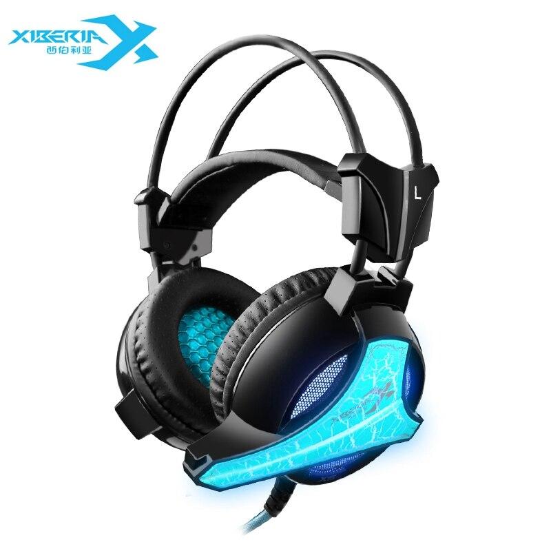 bilder für XIBERIA X5 Gaming Kopfhörer Headset Mit Mikrofon Mic USB Super Bass Computer LED Gaming Headset Stereo Stirnband PC Laptop