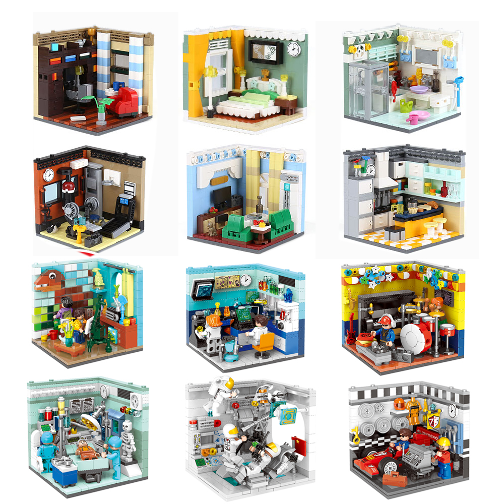 XINGBAO 01401/02 Genuine Building Blocks The Living House Set Building Bricks Educational Toys Compatible with LOGO blocks toys