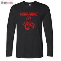 Autumn And Winter New Metal Rock Band Scorpions Logo Legend Men S T Shirt Man Women