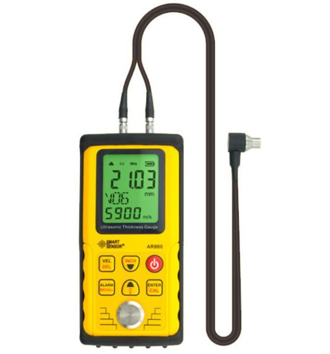 Ultrasonic Medidor de Espessura Medidor Tester Faixa De Medição 1.00-300.00mm (de aço) Brand New