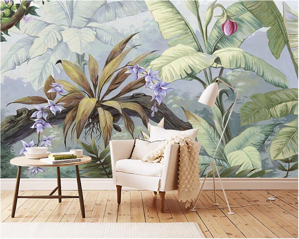 beibehang High-end fashion wall paper classic American pastoral retro nostalgia rainforest backdrop papel de parede 3d wallpaper beibehang peacock hair classic fashion