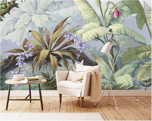 beibehang High-end fashion wall paper classic American pastoral retro nostalgia rainforest backdrop papel de parede 3d wallpaper