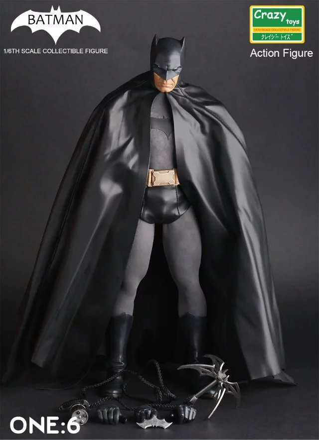 DIWEINI Crazy Toys Batman PVC Action Figure Collectible Model Toy 12