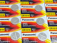 30pcs/lot New Original Panasonic CR1616 Button Cell Coin Batteries Car Remote Control Electric Alarm 3V Lithium Battery