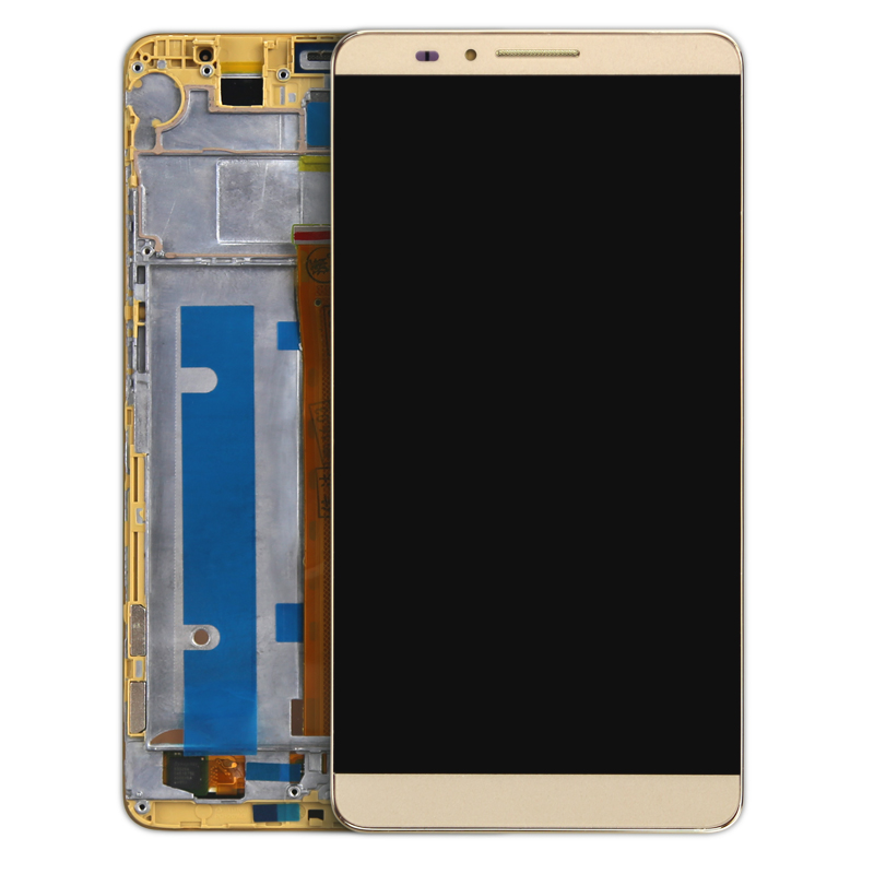 ФОТО 10pcs For Huawei Mate 7 LCD Display+Touch Screen 100% New Assembly Replacement For Ascend MATE 7 Phone Free Shipping with frame