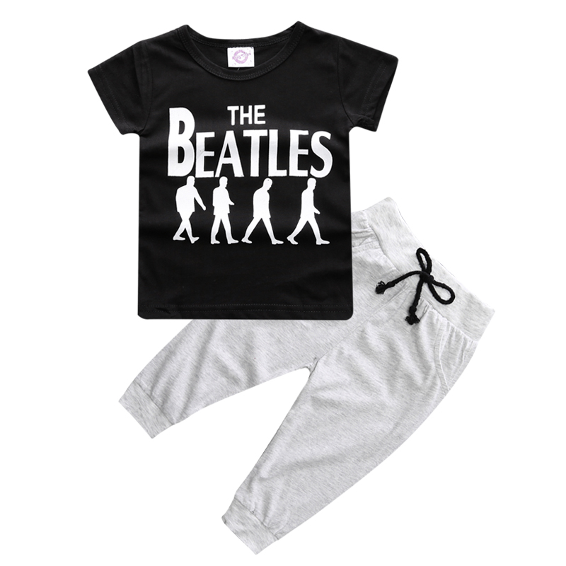 BCS177 Summer Kids Clothes Sets Short Sleeve Boy T-shirt Pants Suit Clothing Set Newborn Sport Suits Children Baby Boy Clothes 1