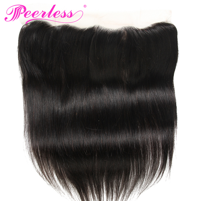 Peerless Hair Straight Lace Frontal  13*4 Free Part Ear to Ear Closure 130% Destiny Remy Human Hair Free Shipping