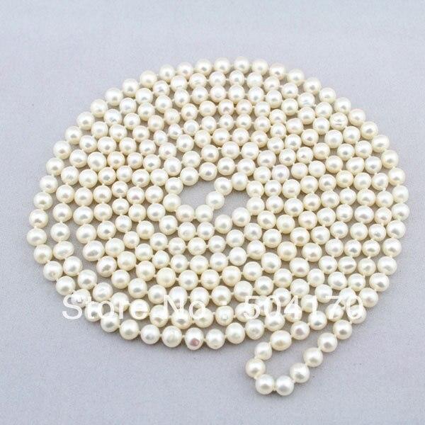 Livraison Gratuite! Collier de perles d'eau douce blanches populaires 6-7 MM 90