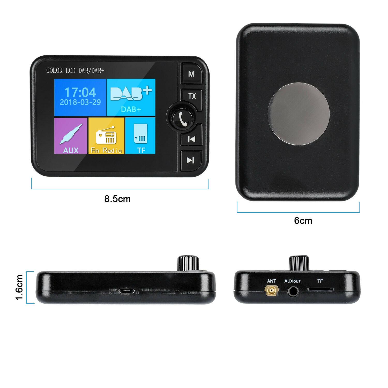 New Hot DAB Radio Récepteur Écran Colorisation Soutien Bluetooth Musique Appel Réponse pour Voiture NV99
