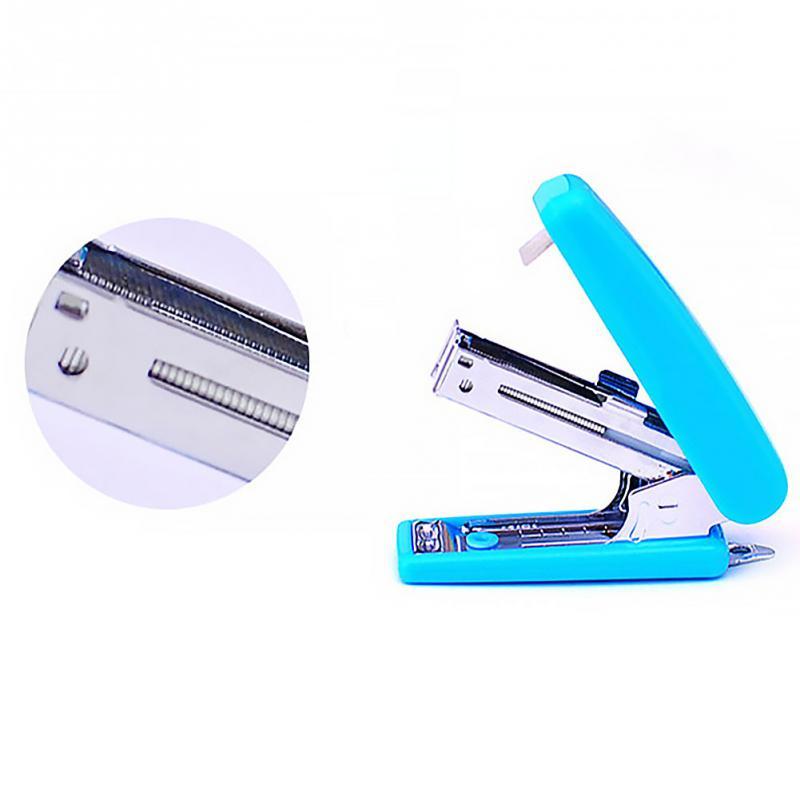 Metal + Plastic Mini Portable Stapler Plastic Cute Office Stationery School Accessory Random Color