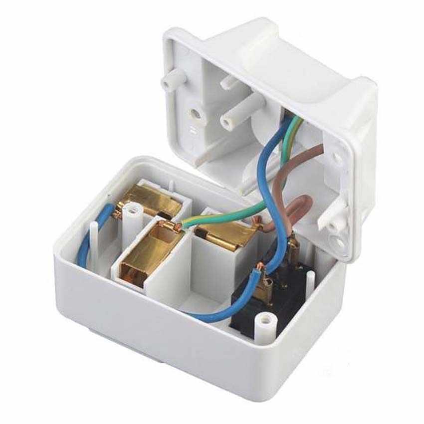 Белый медный 250v 10A ЕС Универсальный адаптер розетка портативный 2way розетка Расширенный преобразователь розетка с выключенным выключателем света