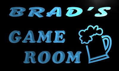 x0219-tm Brads Game Room Beer Bar Custom Personalized Name Neon Sign Wholesale Dropshipping On/Off Switch 7 Colors DHL