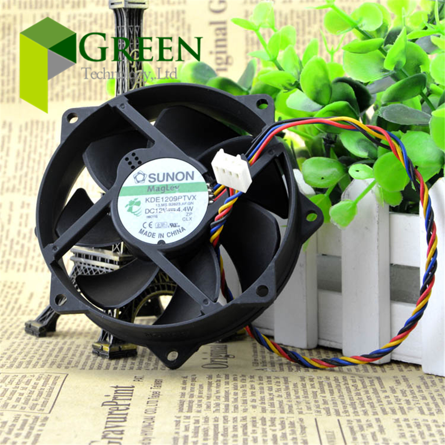5PCS The original SUNON KDE1209PTVX 9025 9225 90MM 90*90*25mm 92*92*<font><b>25</b></font> <font><b>MM</b></font> Circular <font><b>fan</b></font> For CPU Cooling <font><b>fan</b></font> 12V 0.37A with 4pin image