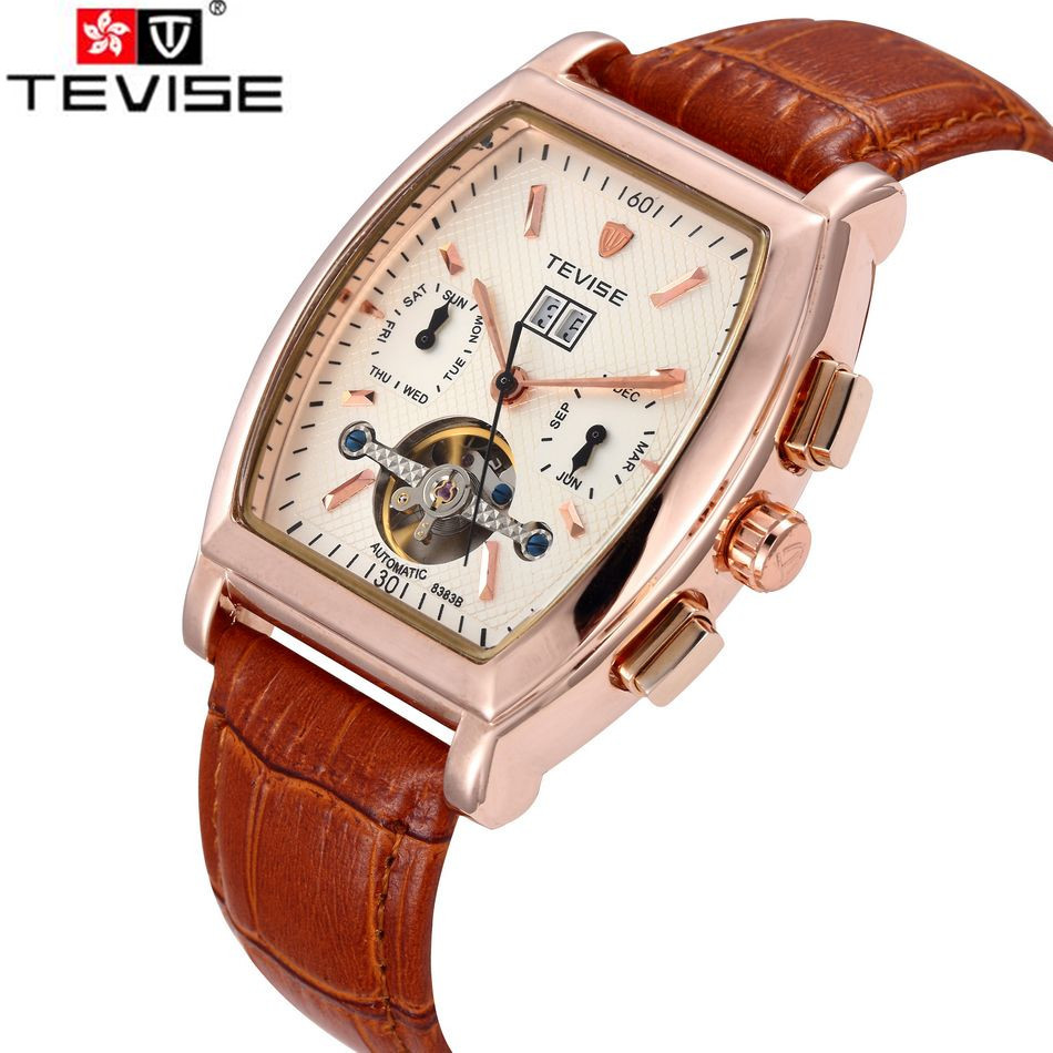 ФОТО Orignal Tevise Fashion Montre Homme Men's Day/Week/Month Automatic Mechanical Watches Gift Box Free Ship