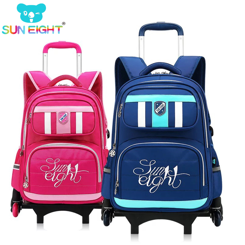 Detail Feedback Questions about SUN EIGHT Trolly School Bag Trolley Luggage  Backpack for boys and girls Six wheels Wheeled Bag School Backpack For  Children ... 7dc03aef9e813