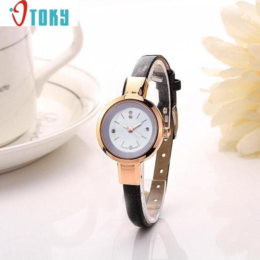 Hot hothot Sales Women Fashion 1PC Lady Round Quartz Analog Bracelet Watch Gift WristWatches,Simple,Girl,Alloy,Waterproof jy29 dimanche сумка dimanche кейс 2 на клипсе