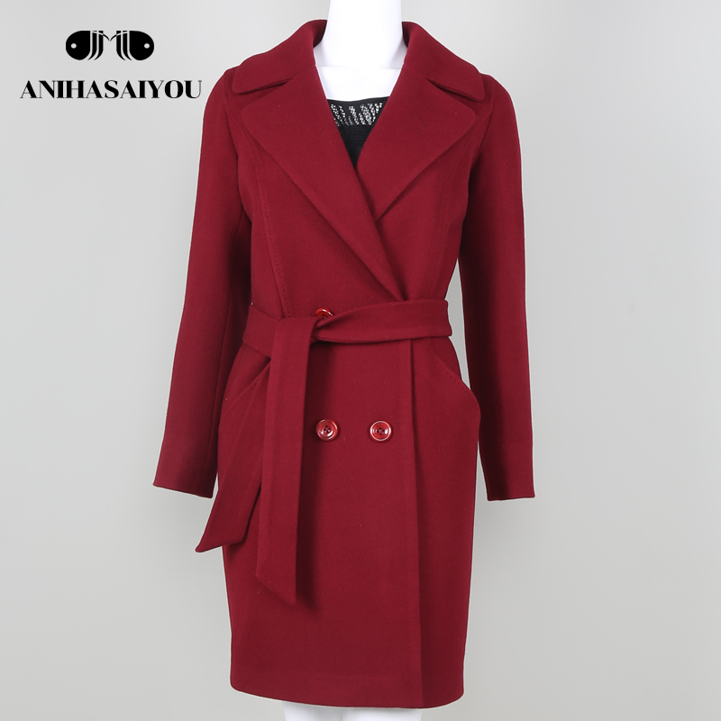Trend Brand Design Autumn And Winter Coat Women Wool Coat Long Womens Cashmere Coat Euro ...