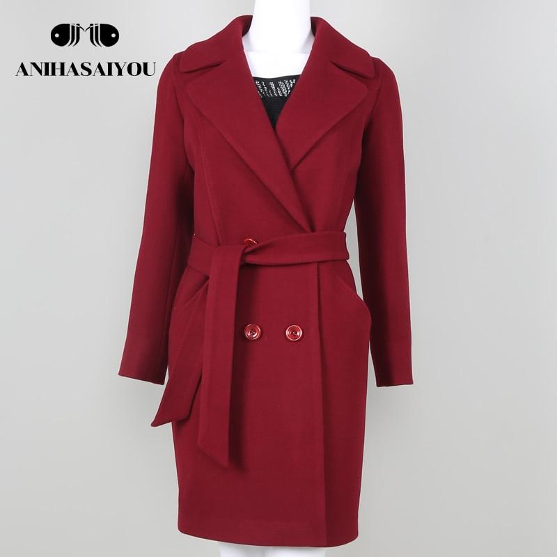 Trend Brand Design Autumn And Winter Coat Women Wool Coat Long Womens Cashmere Coat Euro ...