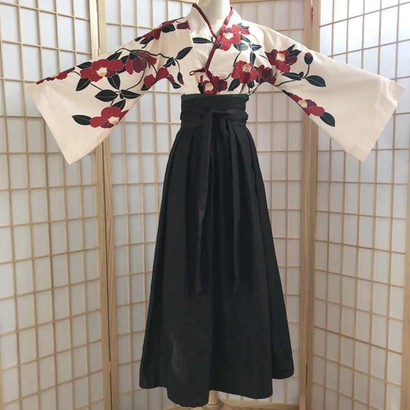 Hanfu Nasional Kostum Merah Camellia Jagung Poppy-Indah Kuno Cina Wanita Bordir Vintage Gadis Menari Gorgerous Gaun