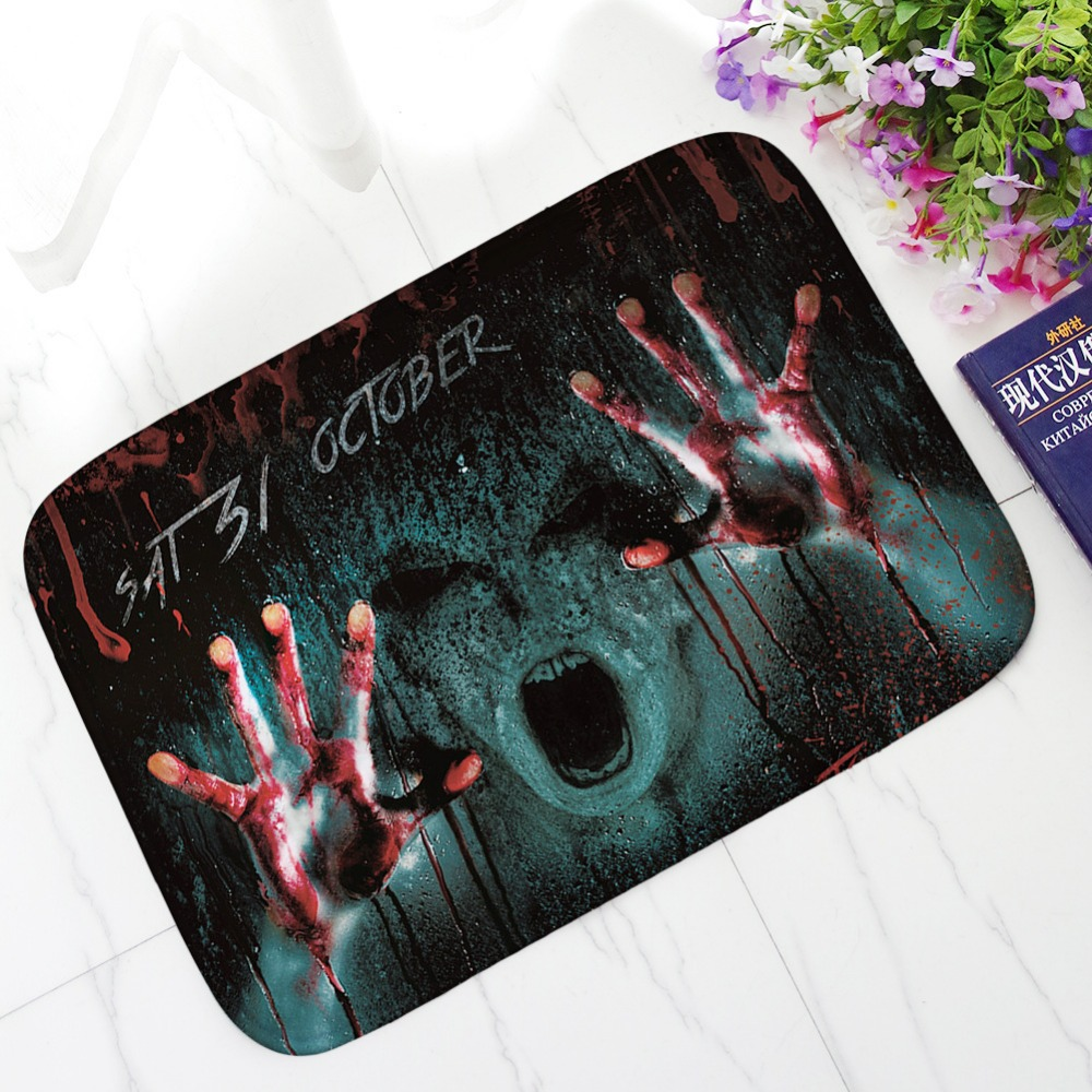 Aliexpress.com : Buy Halloween Floor Mat Bloodstains Printing Carpet  Bloodbath Party Suede Bathroom Mat Kitchen Rugs Home Decoration Alfombras  From Reliable ...