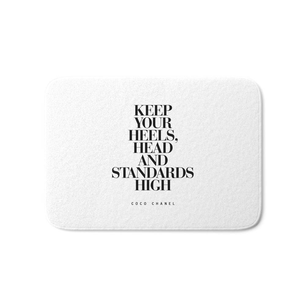 Держите Каблучки высокое вдохновляющие цитаты типографии печать Для ванной Коврики 21 x  ...