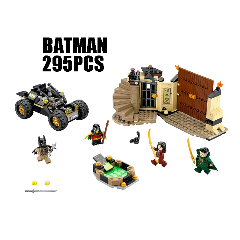 Compatible with Lego batman 76056 07039 super heroes movie building blocks Ra's al Ghul Figure Bricks toys for children
