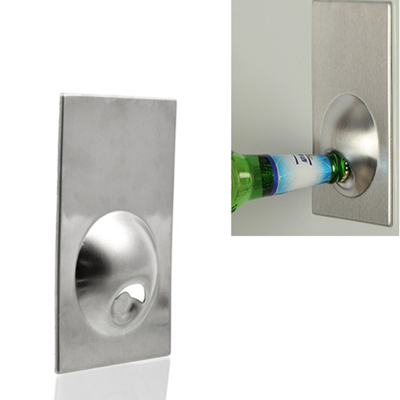 1pc Fridge Magnet Bottle Opener Stainless Steel
