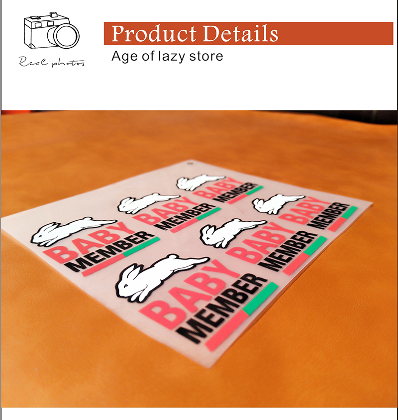 500 pcs multicolor personalizado rótulos de transferência