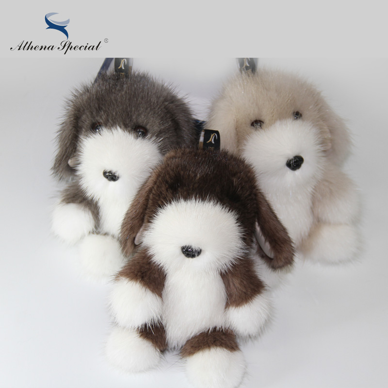 Fashion Mink Fur Keychain 3 Colors High Quality Halloween Gift Real Mink Fur Keyring Bag Charm Fur Cute Dog Keychain Accessories недорго, оригинальная цена