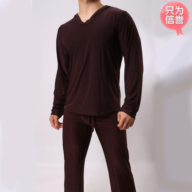 autumn and winter Men lounge soft wire fabric pajamas clothes sexy homewear