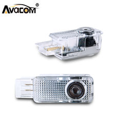 Avacom 2Pcs LED Car Welcome Door Shadow Logo Projector Light 12V 6500K White For Mercedes C-Class W203 W208 W209 R171 R199 W240(China)