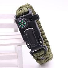 Часы для выживания Кемпинг пеший Туризм Военная Униформа Тактический шестерни открытый кемпинг инструменты браслет водонепроница