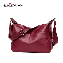 New Women PU Leather Casual Big Shoulder Bag Solid Soft Tote for girls High Quality Messenger Bags Famous Designer Crossbody Bag
