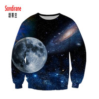 Sondirane Newest Men Women 3D Print Graphics Galaxy Space Sweatshirts Design O Neck Long Sleeve Pullovers