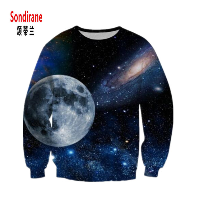 9ee6972f92af Sondirane Newest Men Women 3D Print Graphics Galaxy Space Sweatshirts Design  O Neck Long Sleeve Pullovers Hoodies Tops S To 5XL