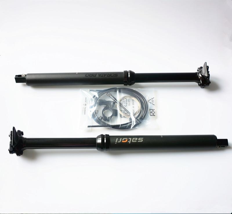 SATORI Interne Shifter Logement vélo tige de selle contact changer distance ajustement tige de selle 30.9/31.6mm X 455mm voyage 145mm
