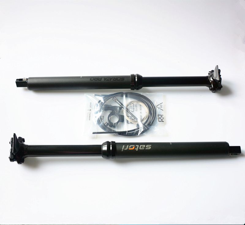 SATORI Shifter interna vivienda bici contacto interruptor remoto ajuste 30,9/31,6mm X 455mm viaje 145mm