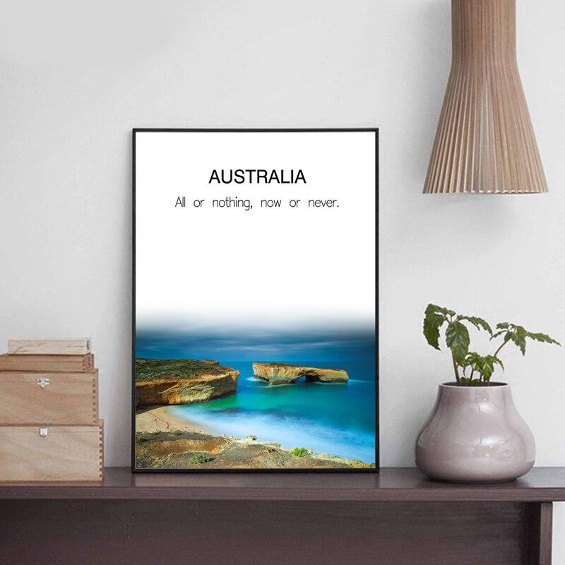 zeroc moderna original australia marino arte de la lona impresin de la pintura del cartel