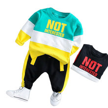 Spring Autumn Baby Boy Girl Clothing Set Cotton Kids Toddler Clothes Letter Sport Suit For Boy Infant Long Sleeve t-shirt+pants casual toddler kids baby boy girl clothes to do list long sleeve t shirt tops pant 2pcs outfit spring autumn suit tracksuit 1 6y