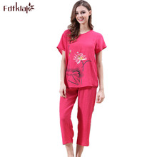 Fdfklak XL-3XL 2017 Short Sleeve Summer Pajamas Sleep &